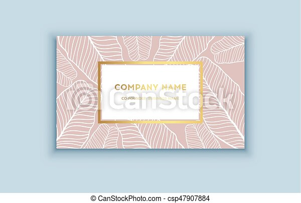 Vector tropical pink and gold business card exotic design for vector tropical pink and gold business card exotic design for cosmetics spa perfume health care colourmoves