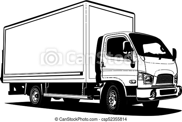 vector truck outline template isolated on white available vector rh canstockphoto ca vector trucking company vector trucking utah