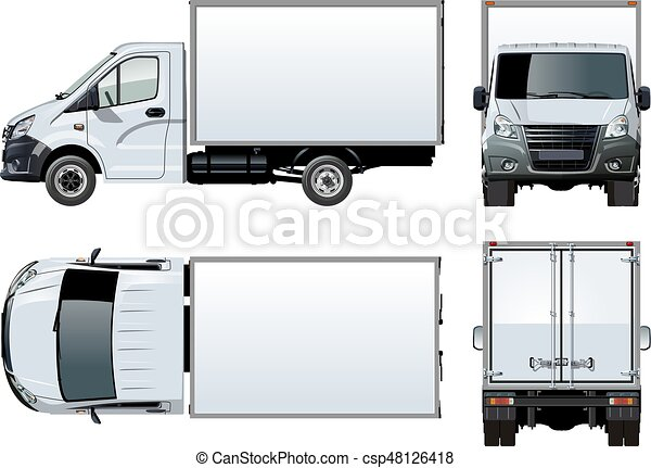 Truck Template | Vector Truck Template Isolated On White Available Eps 10 Separated