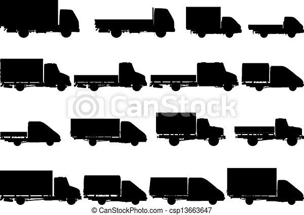 Vector Trucks Silhouettes Set - csp13663647