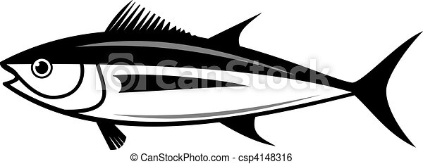 vector tuna fish silhouette - csp4148316