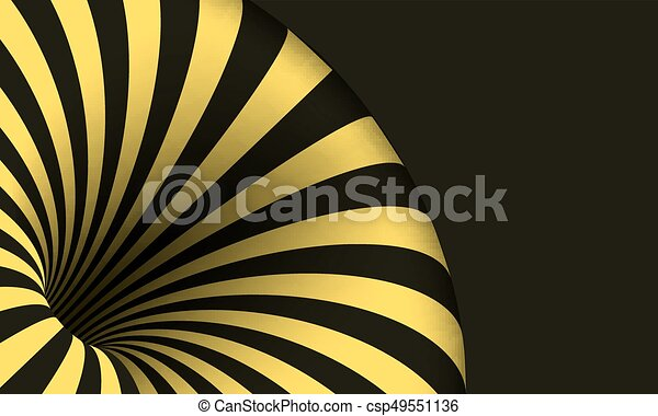 Illustration of vector tunnel template. optical illusion curved ...