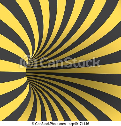 Illustration of vector tunnel template. spiral illusion twisted ...