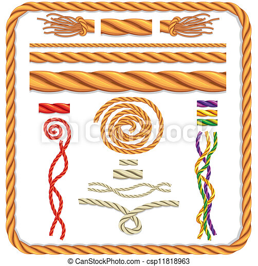 Vector twisted rope - csp11818963