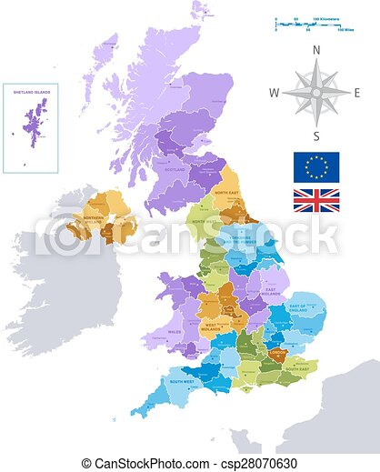 vector uk administrative map