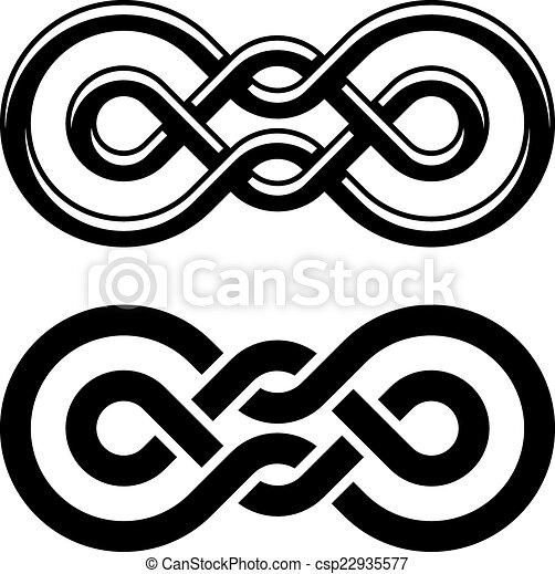Vector Unity Knot Black White Symbol