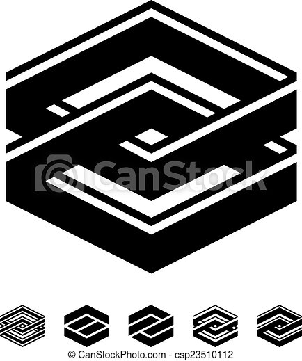 vector unity square black white symbols - csp23510112