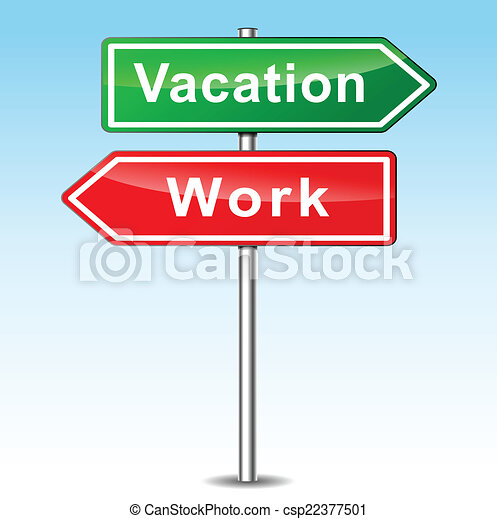 Vector vacation and work concept - csp22377501