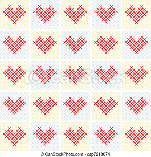 Vector valentine background with he - csp7218074