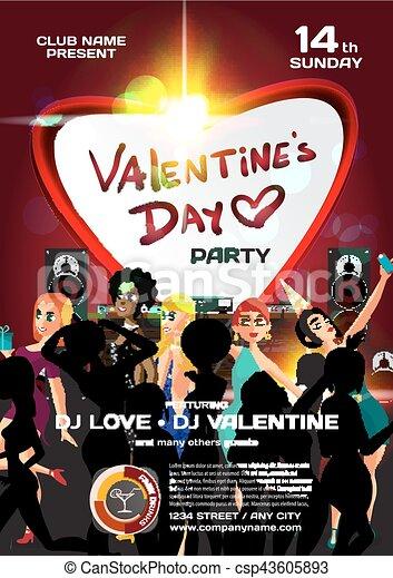 valentines day club flyer
