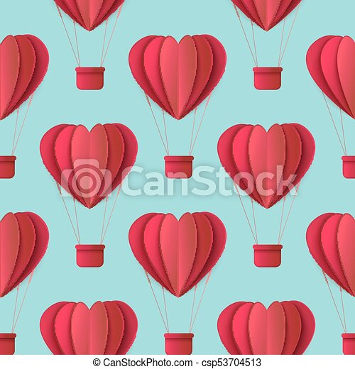 Vector Valentines Origami Heart Seamless Pattern Vector Happy