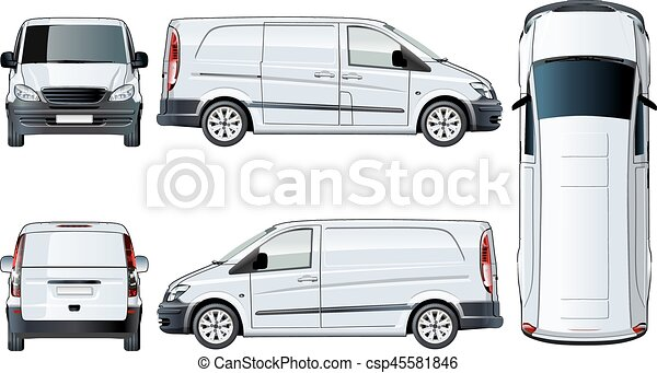 Vector van template isolated on white - csp45581846