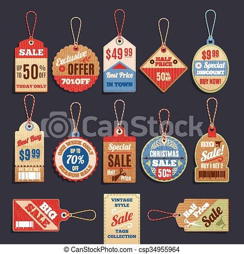 Colección de vectores de ventas - csp34955964