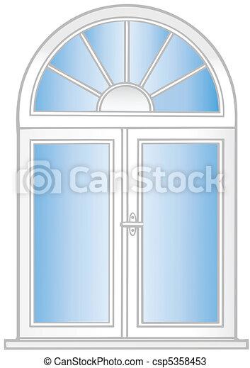 El vector ilustra una ventana de plástico. - csp5358453