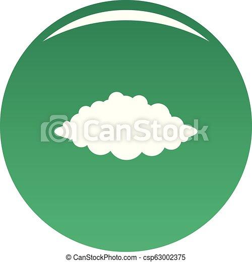 Vector verde de icono de tormenta - csp63002375