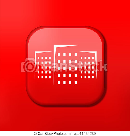Vector version. Real estate icon. Eps 10 illustration. Easy to edit - csp11484289