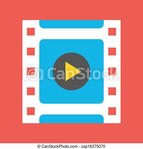 Vector Video Frame Icon  - csp16375070