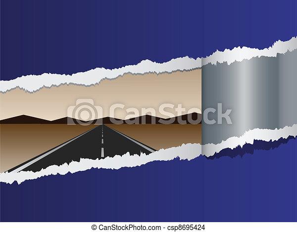 vector view on empty road - csp8695424