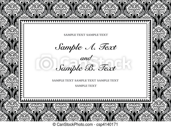 Vector Vintage Background and Frame - csp4140171