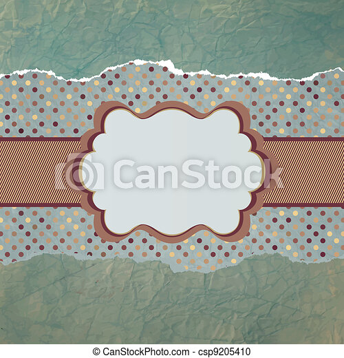 Vector vintage card with polka dots. EPS 8 - csp9205410