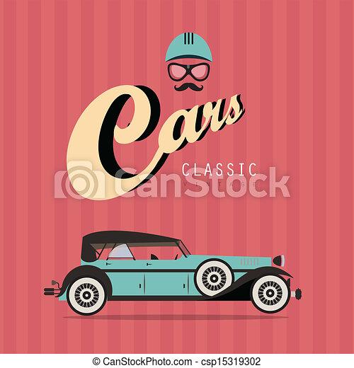 Vector vintage classic car - csp15319302