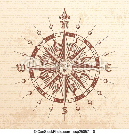 vector vintage compass rose illustration of a vector hi quality
