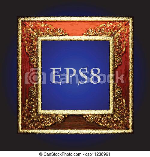 Vector vintage frame - csp11238961