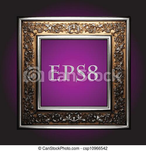 Vector vintage frame - csp10966542