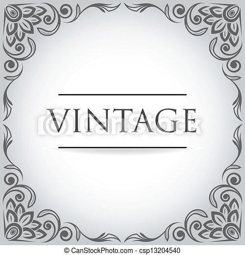 Vector Vintage frame - csp13204540