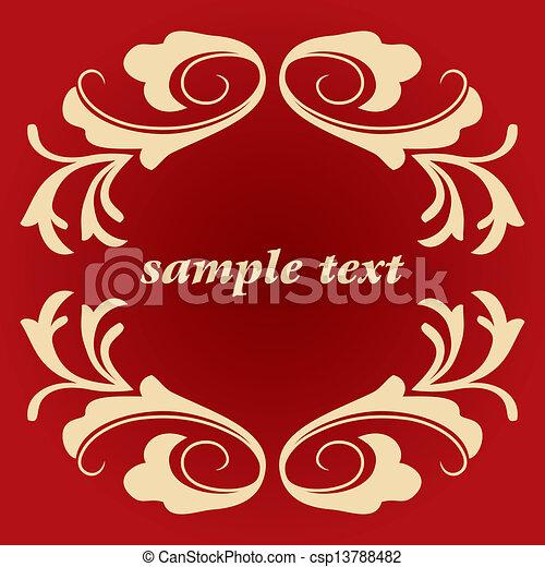vector vintage frame - csp13788482