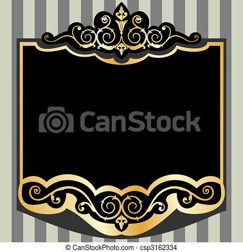 Vector vintage frame - csp3162334