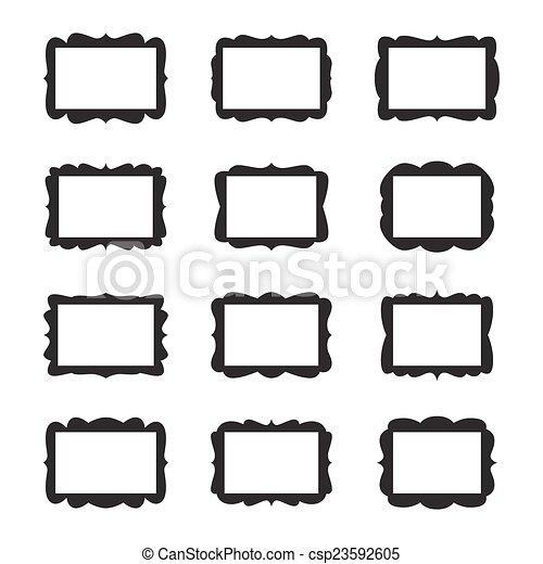 Vector Vintage Frame Set - csp23592605