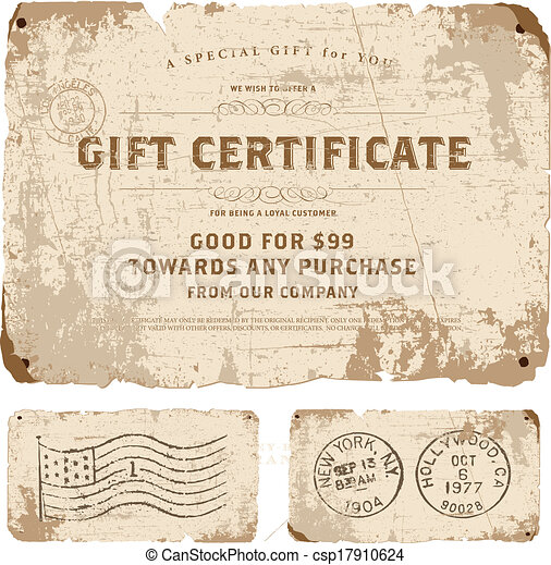 Vector vintage gift certificate template easy to edit vector vector vintage gift certificate template yadclub Image collections