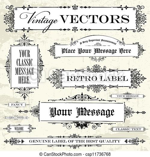 Vector Vintage Label Set - csp11736768