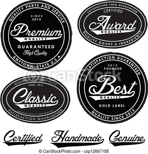 Vector Vintage Seal Set - csp12667188