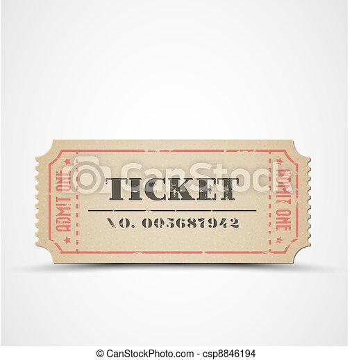Vector vintage ticket - csp8846194