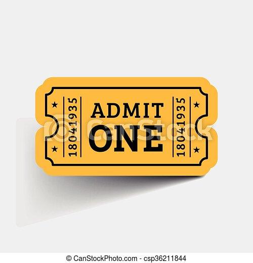 Vector Vintage Ticket Icon - csp36211844