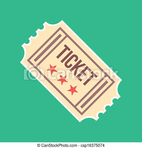 Vector Vintage Ticket Icon  - csp16375074