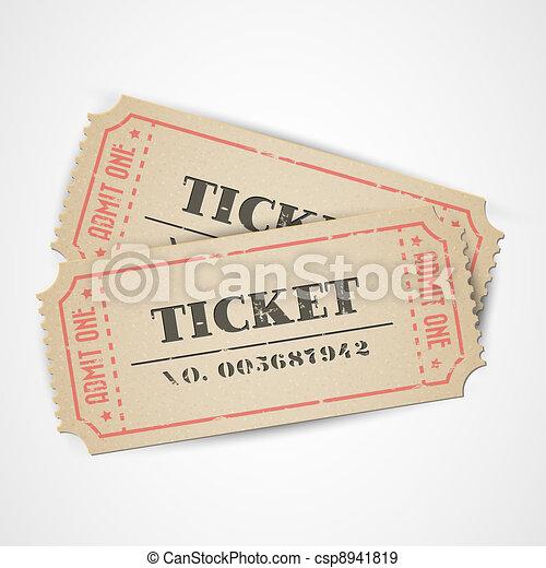 Vector vintage tickets - csp8941819