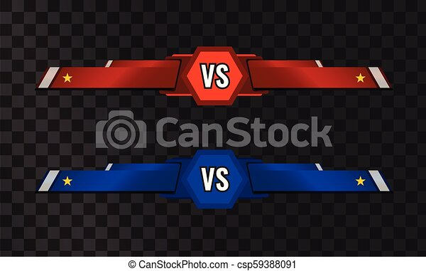 Vector Vs Versus Template On Transparent Background Vs Versus Template On Transparent Background Illustrated Vector
