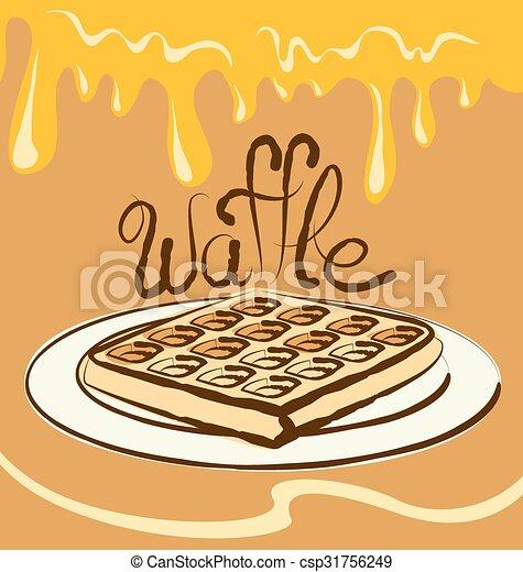 Vector Waffle - csp31756249