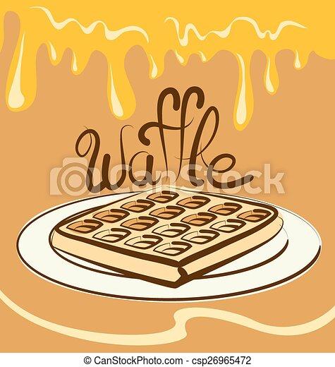 Vector Waffle - csp26965472