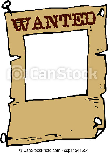 vector wanted poster image on white clipart vector search rh canstockphoto com wanted poster border clip art help wanted sign clip art free