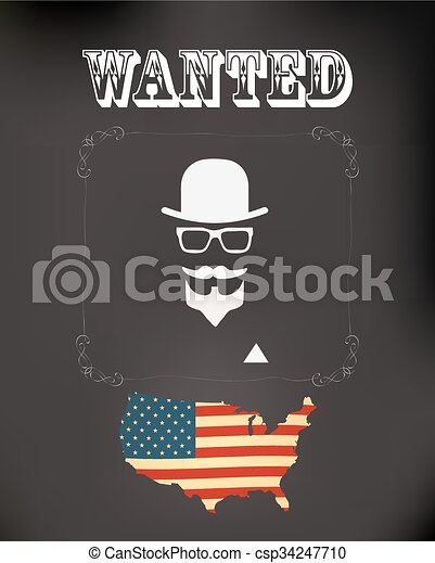 vector wanted poster - csp34247710