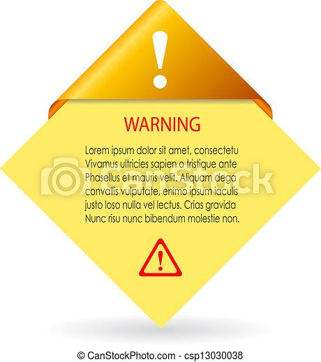 Vector warning card - csp13030038