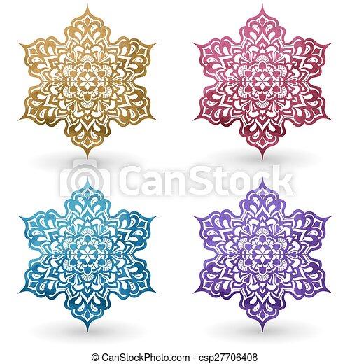 Vector Watercolor Design Elements - csp27706408