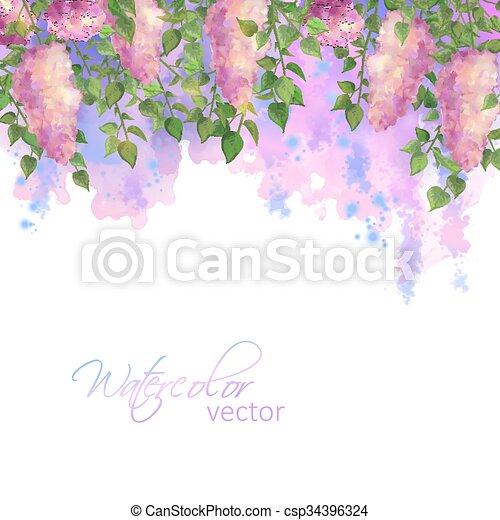 Vector Watercolor Spring