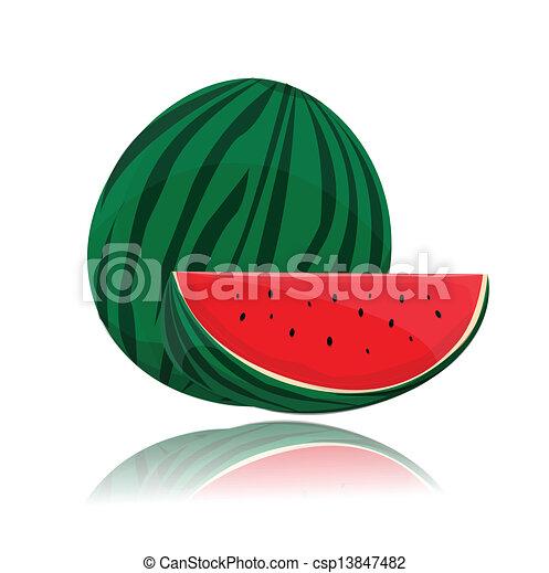 vector watermelon - csp13847482