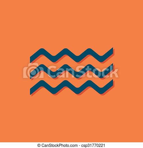 Vector waves icon  - csp31770221
