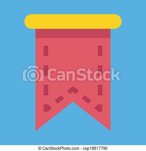 Vector Web Bookmark Ribbon Icon - csp18817790